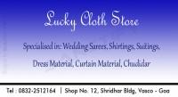 Lucky Cloth Store, Vasco-da-Gama, South Goa, Goa
